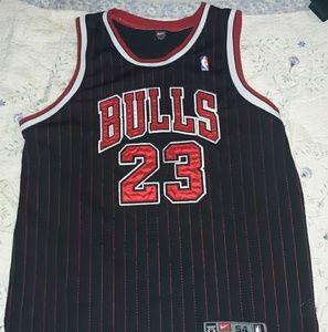 Michael Jordan 1984 ChicagoBulls Nike Black Jersey